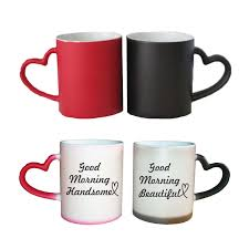handsome and beautiful conical magic couple mugs