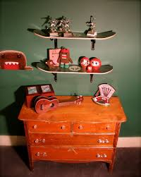recycled home decor projects non consumer home decor projects u2014 earring rack and skateboard shelves