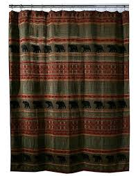 Curtains With Hooks Bear Country Chenille Shower Curtain U0026 Hooks Cabin Place