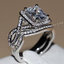 clearance engagement rings rings diamonique wedding sets qvc diamonique qvc