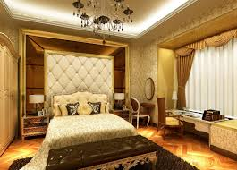 european and chinese style luxury bedroom interior design 3d