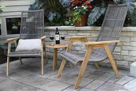bay isle home weybridge teak and wicker basket 3 piece lounge