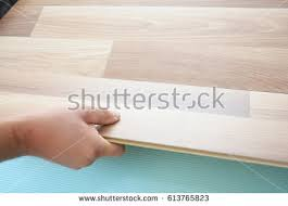 laminate wood flooring laminate flooring floor stock photo