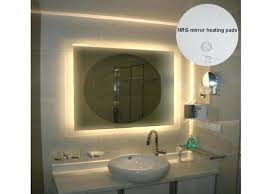 Heated Bathroom Mirror With Light Bathroom Mirrors Bathroom Mirror With Led Lights Magnifying