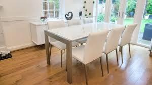 High Gloss Extending Dining Table Modern White Dining Table Dining Room Gregorsnell Modern White