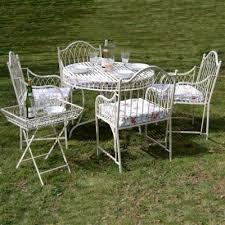 Cream Garden Bench 4 Chair Garden Patio Sets Outdoor Furniture 5 Customer Service