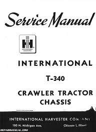 harvester t 340 service manual