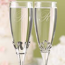 wedding glasses king and toasting flutes