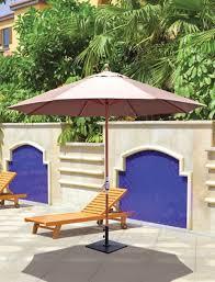 Tilting Patio Umbrella by Galtech 11 U0027 Teak Wood Crank Lift Non Tilt Patio Umbrella With