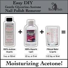 easy diy gentle glycerin acetone nail polish remover black cat nails