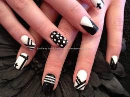nail art designs black and white unique black and white nail art