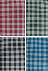 gingham check textured vinyl tablecloth flannel back 60x102