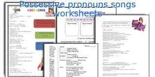 english teaching worksheets possessive pronouns songs