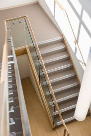 Glass Stair Rail by Stair Staircase Commercial Non Slip Treads Tasmanian Oak