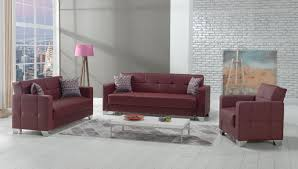 Burgundy Living Room by Viva Italia Prestige Burgundy Leatherette Sofa Bed By Mobista