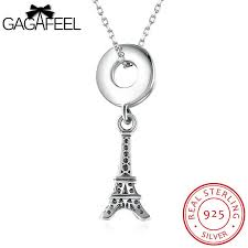 sted necklaces gagafeel eiffel tower 925 sterling silver pendant necklace melogrio