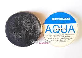 kryolan aqua color cake eyeliner and professional round brush 0