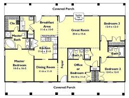 traditional 4 beds 3 baths 1856 sq ft plan 44 162 main floor plan