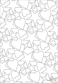 symmetry coloring pages hearts and stars pattern coloring page free printable coloring pages