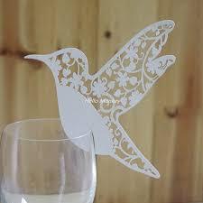 Diy Place Cards Aliexpress Com Buy 50pcs Diy Place Card Flying Birds Cups Glass