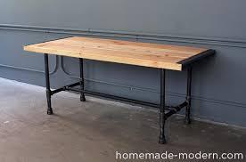 Steel Pipe Desk Homemade Modern Ep68 Pipe Coffee Table