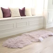 Lilac Runner Rug Lilac Mongolian Sheepskin Fur Floor Runner Rug Eluxury Home