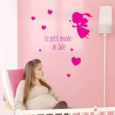 stickers chambre bébé fille fée stickers bébé fille personnalisés coeurs et fée de chambre