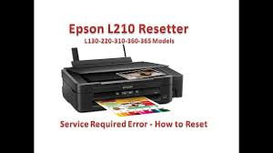printer epson l210 minta reset epson l210 resetter how to reset service required youtube