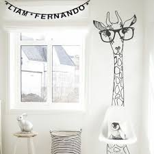 chambre la girafe stickers decoratifs chambre enfant stickers citation enfant
