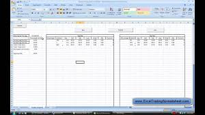 Options Trading Journal Spreadsheet by Excel Trading Spreadsheet