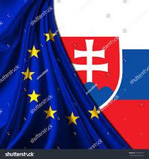Slovak Flag Europe Union Flag Fabric Slovakia Flag Stock Illustration