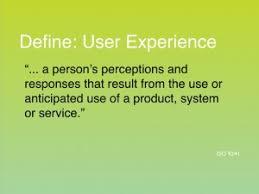 define user experience dbhq net