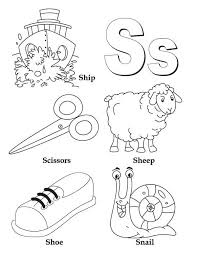 learn upper and lower case of letter s coloring page bulk color