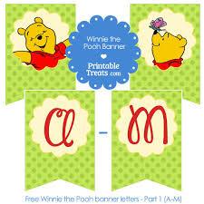 winnie pooh birthday banner letters printabletreats