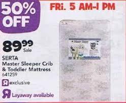 Serta Master Sleeper Crib And Toddler Mattress Black Friday Deal Serta Master Sleeper Crib And Toddler Mattress