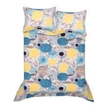 marimekko sitruunapuu yellow blue duvet cover set marimekko