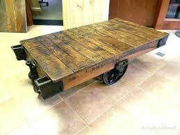 railroad cart coffee table restoration hardware cart coffee table factory cart table a