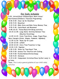 light years ahead child care center day care logos daily schedule marcy s shining stars in home