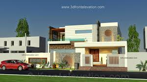3d front elevation com 1 kanal beautiful modern house plan and 3d