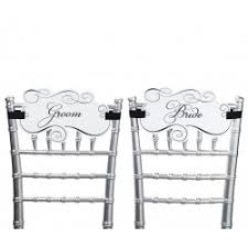 Bride And Groom Chair Signs Wedding Chair Signs Mr And Mrs Chair Decorations Bride And