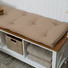 amazon com deauville 45 x 16 in storage bench cushion throw