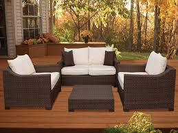 Wicker Patio Furniture Miami by Oxford 4 Piece Resin Wicker Set Plioxfset Bg