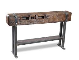 modern wooden console tables furniture home aimee reclaimed wood console table design modern
