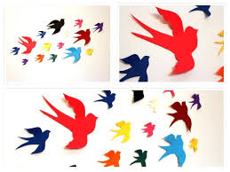 bird decorations for home wall decor amazing 3d bird wall decor for home design wall