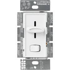 lutron skylark 600 watt single pole dimmer white s 600pr wh