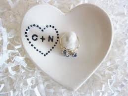 wedding ring holder white heart wedding ring holder engagement gift his and hers