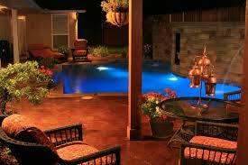 outdoor pool deck lighting custom pools natural stone pools