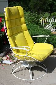 Wire Patio Chairs Vintage Homecrest 1950 U0027s Rocking Wire Chair Patio Retro Eames Mid