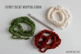 crochet ribbon crochet a day chain stitch wrapping ribbon make and takes
