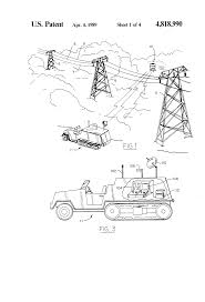 patent us4818990 monitoring system for power lines and right of